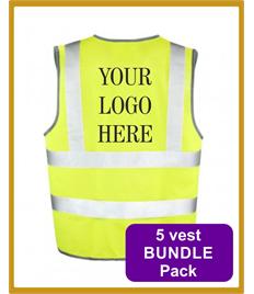 5 Hi Viz Vests Bundle Pack - £8.99 each